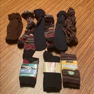 9 pairs of BOGO socks and knee highs